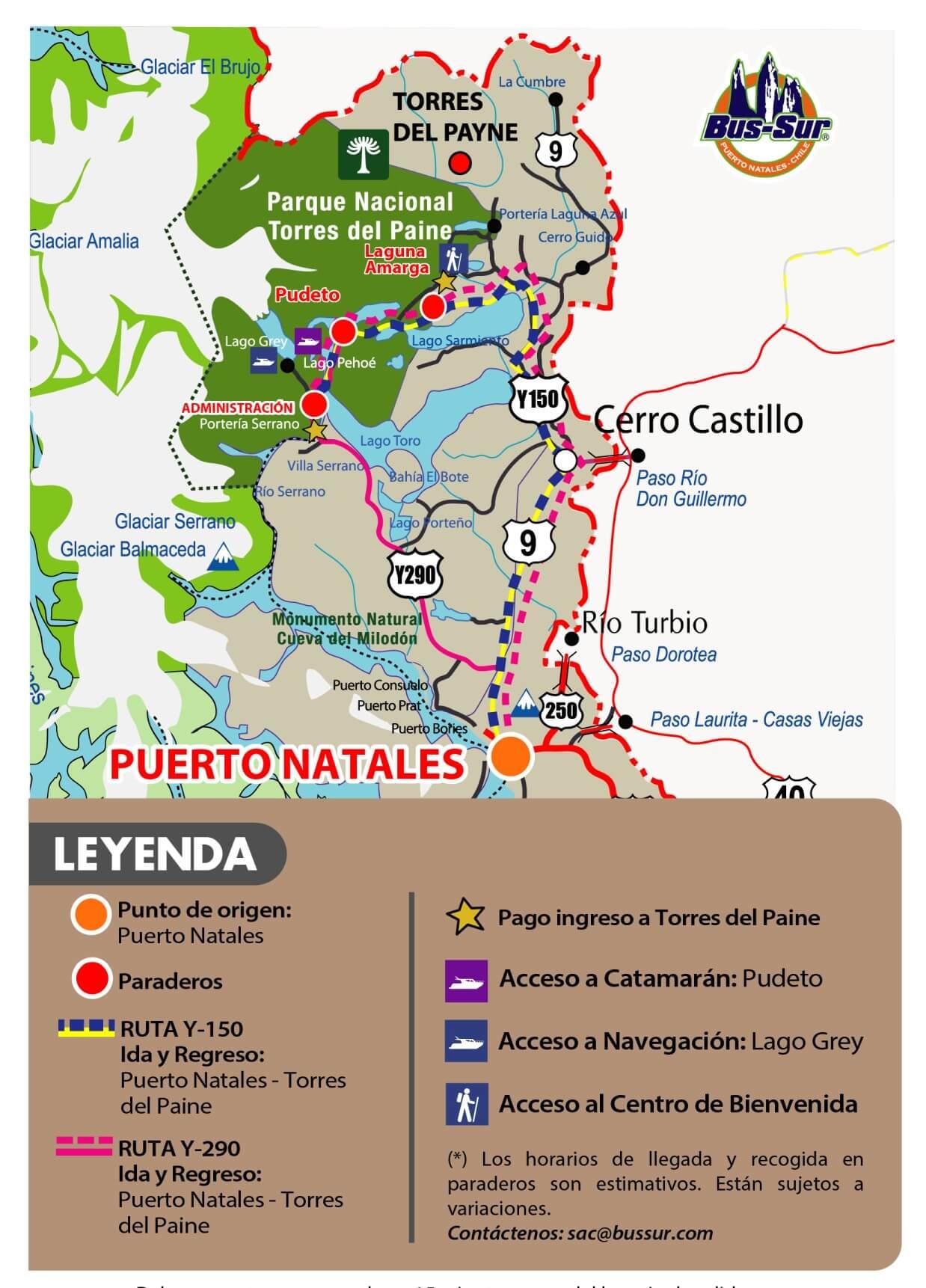Venta de pasajes Puerto Natales Torres del Paine